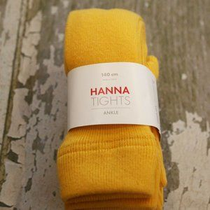 NWT HANNA ANDERSSON Swedish Yellow Ankle tights